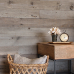 DIY textured wood wall